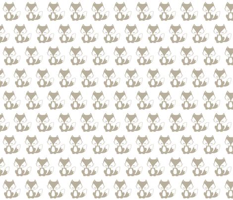 Sleepy Fox fabric by sewluvin on Spoonflower - custom fabric
