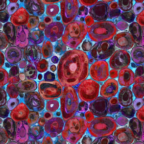 Burning Agates in Rose and Blue