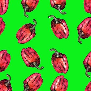 Flaming Red Peppers Key Lime Green