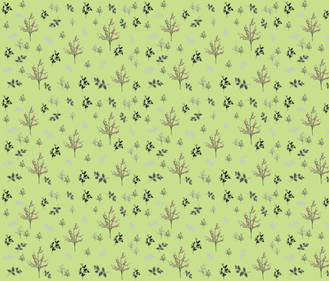 Winter spring forest fabric by forestwooddesigns on Spoonflower - custom fabric