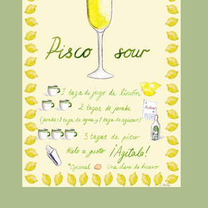 Pisco Sour Tea Towel