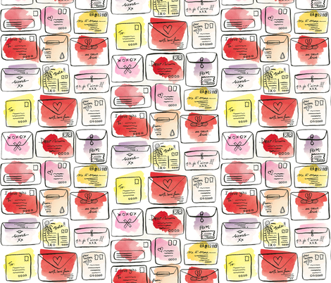 love letters fabric by karalynshaw on Spoonflower - custom fabric