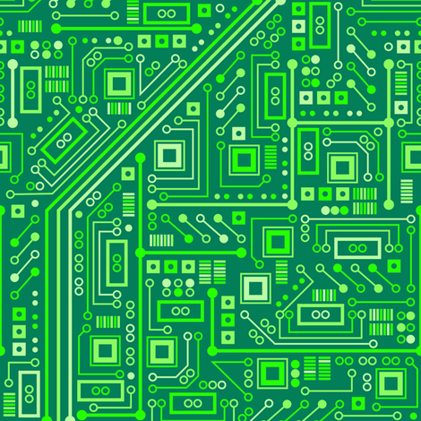Short Circuits (Neon Green) fabric by robyriker on Spoonflower - custom fabric