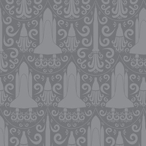 Rocket Science Damask (Gray)