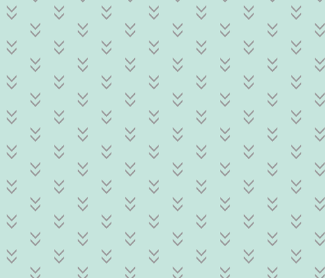 Direction-mint/grey fabric by sugarpinedesign on Spoonflower - custom fabric