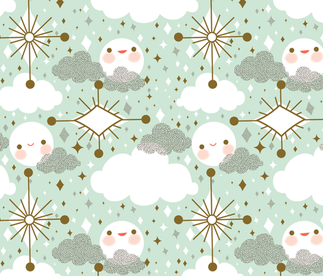 Buenas Noches fabric by ginamayes on Spoonflower - custom fabric