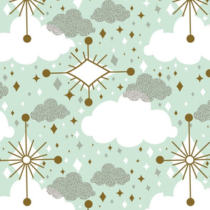 Glam Clouds - Mint