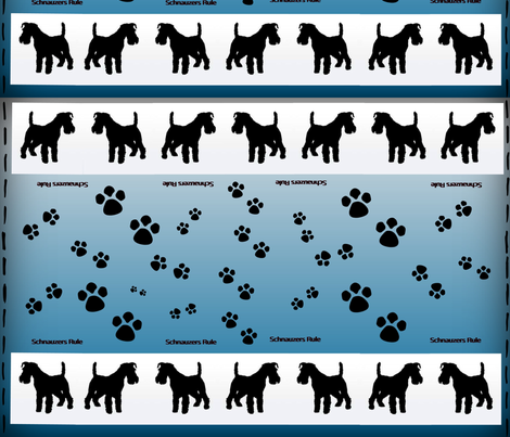 Standard schnauzers rule fabric by forestwooddesigns on Spoonflower - custom fabric