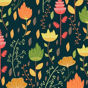 Floral bright pattern