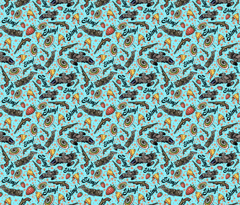The Shiniest Fabric in the Blue Verse fabric by sharksvspenguins on Spoonflower - custom fabric