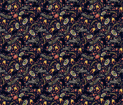 The Shiniest Fabric in the Dark Verse fabric by sharksvspenguins on Spoonflower - custom fabric