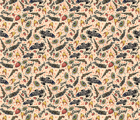 The Shiniest Fabric in the Pink Verse fabric by sharksvspenguins on Spoonflower - custom fabric