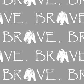 Brave Bear // grey