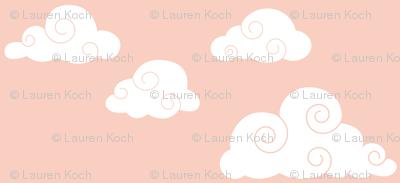 clouds // peach