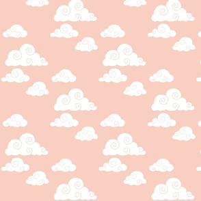clouds // peach