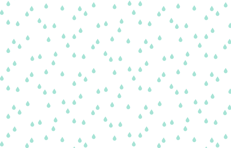 Clouds + Rain - Rain Drops Mint on White fabric by cavutoodesigns on Spoonflower - custom fabric