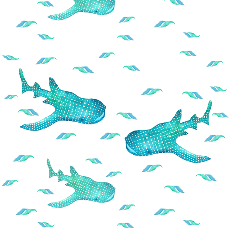 Whale_Shark-2paint fabric by thepoonapple on Spoonflower - custom fabric