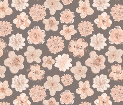 Tulle Flowers Original fabric by gypseeart on Spoonflower - custom fabric