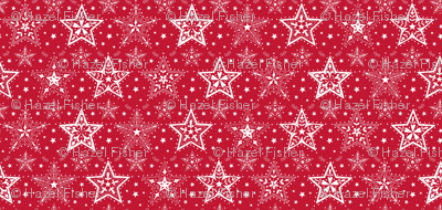 Patterned Christmas Stars red and white