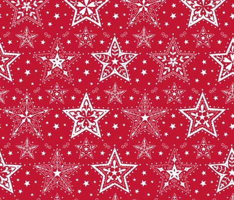 Rpatterned_christmas_stars_red_and_white_hazel_fisher_creations_shop_preview