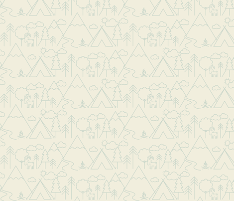 Camp Capricorn Line Spearmint fabric by phirefly_print on Spoonflower - custom fabric