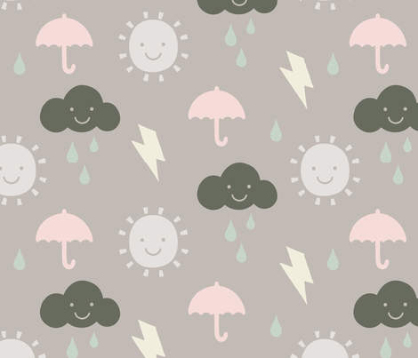 Happy Weather Multi fabric by phirefly_print on Spoonflower - custom fabric