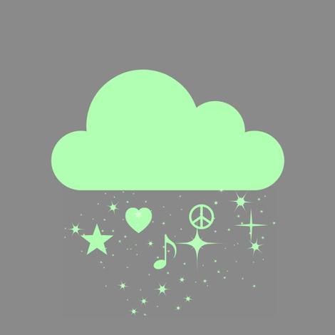 grey_green_raining_dreams fabric by stephaniecroydon on Spoonflower - custom fabric