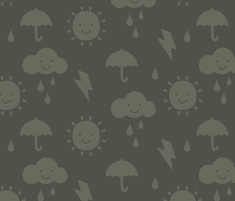 Happy Weather Mono fabric by phirefly_print on Spoonflower - custom fabric