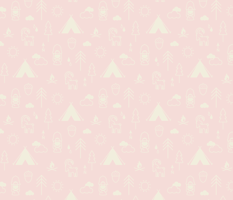 Camp Capricorn Conversation Candyfloss fabric by phirefly_print on Spoonflower - custom fabric