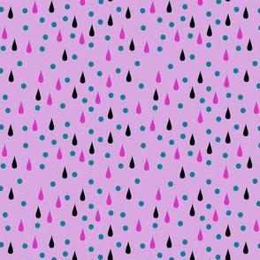 drops and bubbles on lavender