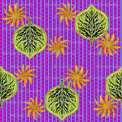 Leaf on stripes