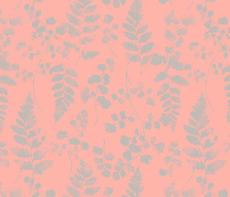 Watercolour Ferns Candy fabric by phirefly_print on Spoonflower - custom fabric