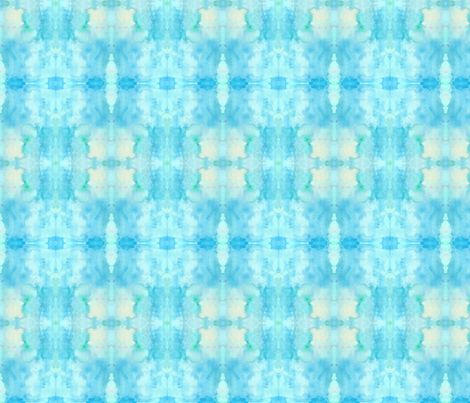 Tie Dye Whimsy Blue Violas fabric by willow_and_whimsy on Spoonflower - custom fabric