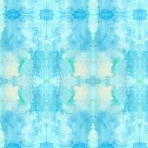 Tie Dye Whimsy Blue Violas