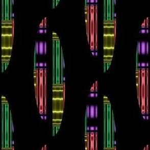 Colored Ovals on Black