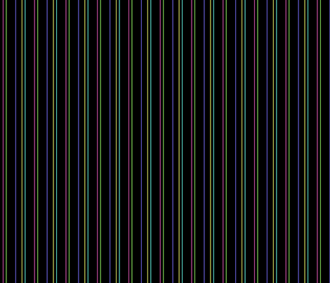 Pinstripe in Black Plus Colors fabric by gingezel on Spoonflower - custom fabric