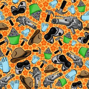 Doctor Horrible's Sing Along Fabric - Orange
