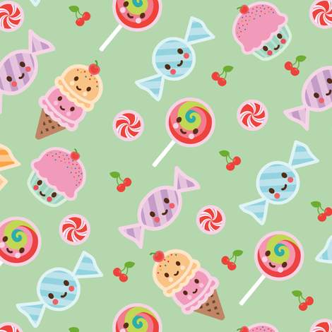 Happy Sweets fabric by wanart on Spoonflower - custom fabric