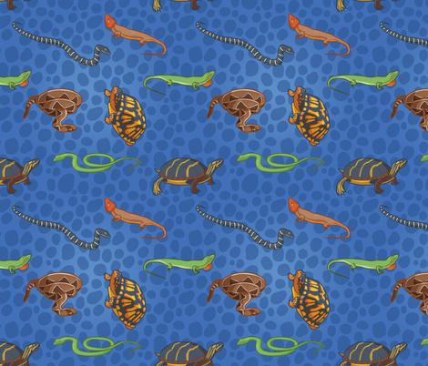 Reptile Blues fabric by eshapiro on Spoonflower - custom fabric