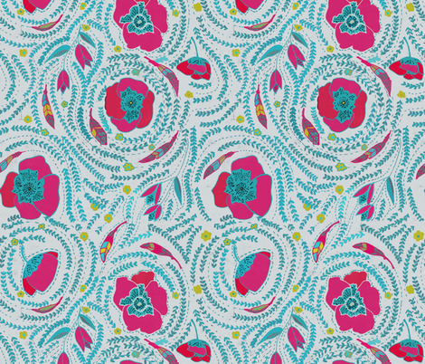 Elizabella daylight fabric by stafford on Spoonflower - custom fabric