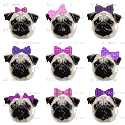 Pretty Pug Girls - Small Scale (Client Requested)