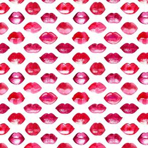 Watercolor lips pattern