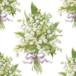 Muguet on white
