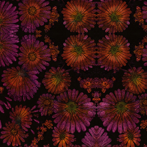 Falling_Flowers_ fabric by connie_sickler on Spoonflower - custom fabric