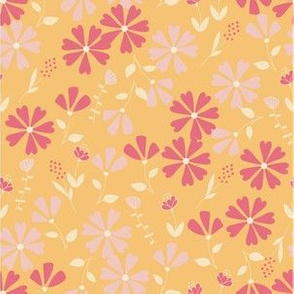 Francesca Floral - yellow and pink
