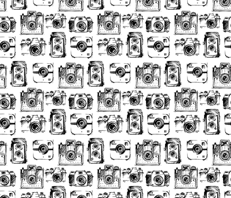 camera sketches fabric gypseeart spoonflower