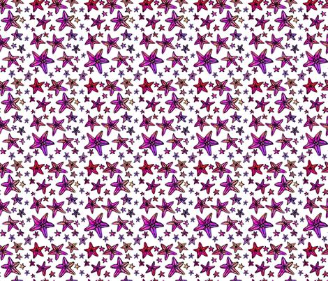 11STARFISHPATTERN fabric by gemma_elliott on Spoonflower - custom fabric
