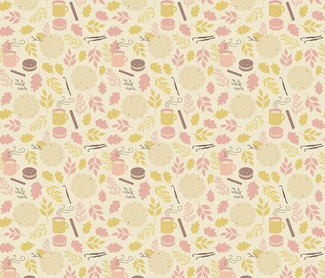 Cinnamon and vanilla fabric by marinademidova on Spoonflower - custom fabric