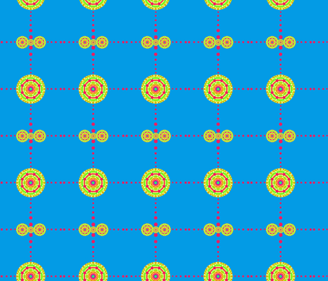 Colorplay: Medallion Dot Boxes #1 fabric by tallulahdahling on Spoonflower - custom fabric