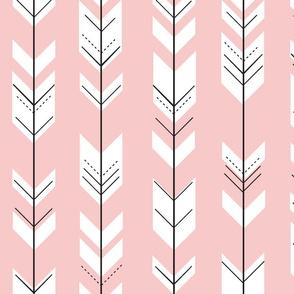 Fletching arrows // rose quartz
